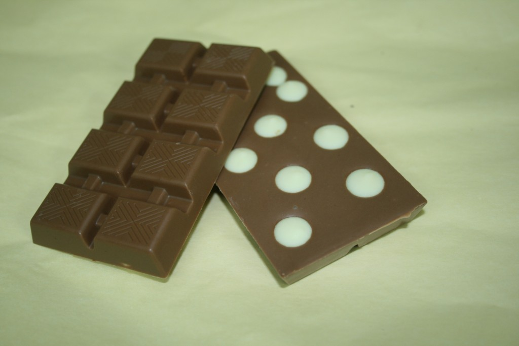 MIlk Chocolate with White Chocolate Dots